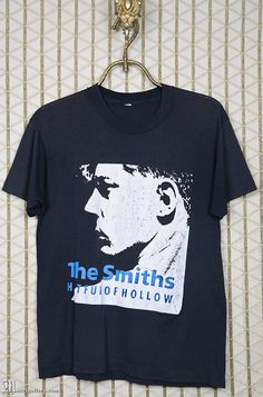 The Smiths T-shirt, Hatful of Hollow, Morrissey, vintage rare soft thin black tee shirt, 80s New Wave, Screen Stars 50 50