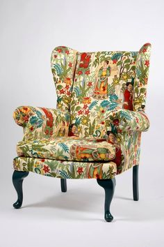 Funky Furniture, Bespoke Furniture, Vintage Furniture, Goodwill Furniture, Furniture Makeover, Upholstered Arm Chair, Chair Upholstery, Wingback Chair, Haciendas