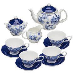 -- Idea List by Tea Cup Saucer, Tea Cups, Blue Dishes, Tea Pot Set, Pot Sets, Tea Art, China Sets, Blue China, Tea Accessories