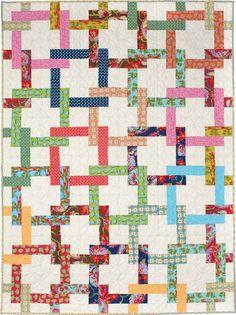 Pretzel Twist throw quilt by Jane Vaughn at Fons & Porter