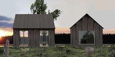 LAG DIN EGEN VARIANT: Du kan endre på takvinkler og andre elementer på hyttene i Rindalshyttas Småhus-serie slik at du får din egen variant.