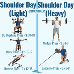 SHOULDER DAY by @jmaxfitness - Building big shoulders takes training them twice per week. One day will be heavy and focused on getting stronger. The other day will be a bit lighter and focus on volume and getting a nice pump. - Give this workout a try if you want to build some big 3D delts that pop. - Tag a friend who will do this workout with you. - #shoulderday #shoulderworkout #delts #buildmuscle #gainmuscle #musclescience #musclegrowth #musclescientist #getstrong #muscleman #muscled…