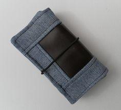 Men's bi-fold wallet, recycled Wrangler denim, Brown Leatherette £9.00