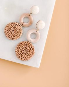 These are seriously our favorite! We love our Wood + Straw Trio Earrings that have 3 tiers with a circular and wicker effect! So vacay ready! Tiered Effect - Long Post Back Lead & Nickel Compliant Wire Jewelry Earrings, Diy Earrings, Jewellery, Cool Gifts, Best Gifts, Other Accessories, Fashion Accessories, Fall Mini Sessions, Sale Items