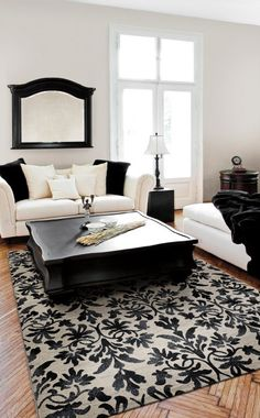 Browse HGTV Remodels for pictures of the best flooring choices for every room in the house based on function, looks and your lifestyle. Modern Country, My Living Room, Living Room Decor, Timeless Bathroom, Classic Bathroom, Alternative Flooring, Black And White Living Room, Bathroom Tile Designs, White Decor