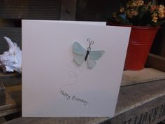 Hand Drawn Greeting Card with Natural Sea Glass by SurfandSilver, £3.00