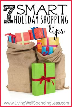 Want to save BIG on your Christmas gift list?  Don't miss these super smart holiday shopping tips--I dare to bet there are at least a couple you haven't thought of!  I especially love #4.