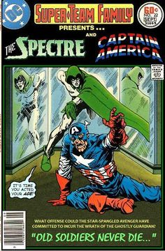 Love this The Spectre & Captain America variation of a DC Adventure comic book cover by Jim Aparo. Super-Team Family: The Lost Issues!
