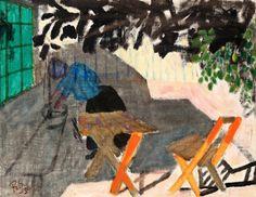 Ragnar Sandberg 1902-1972 In the Garden, Hanhals