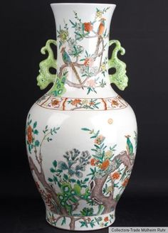 China 20. Jh. A Chinese Famille Rose Baluster Vase - Vaso Cinese Fencai Chinois