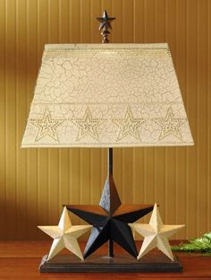(PD25-263) Western 3-Star Table Lamp