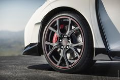 The upcoming Geneva Motor show shall be the venue for unveiling the Honda Civic Type R. Based on the teaser images released by the company t - Honda News at CarTrade Honda Civic Type R, 2015 Honda Civic, Honda Civic Rims, New Honda, Top 10 Sports Cars, Bike News, Acura Nsx, Auto News, Car And Driver