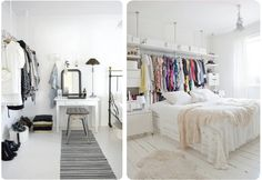 Hello My Dear Blog: Moving In: Exposed Closets