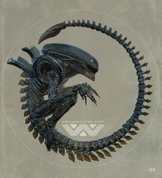Xenomorph - Alien fan art by Pascal Blanché Alien 1979, Alien Vs Predator, Alien Films, Aliens Movie, Concept Art Alien, Concept Art World, Arte Alien, Alien Art, Art Et Illustration
