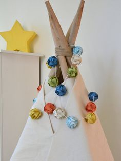 Lemon Prairie - Colorful teepee garland