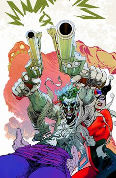 The Joker,  Harley Quinn & Clayface by Guillem March