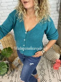 Gilet Mohair, Pull, Green Vest, Wool