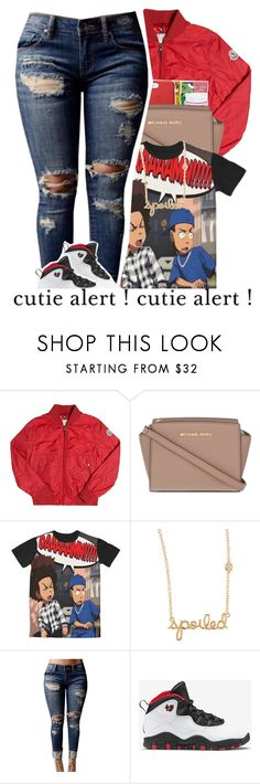 """"""""""" by er1nnnnn ❤ liked on Polyvore featuring Moncler, MICHAEL Michael Kors, Sydney Evan, WithChic and Retrò"""