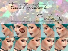 Overkill Simmer  Facial Tattoos Set n 3    Available for male and female  5 different sets