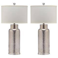 Master bedroom bedside table lamps