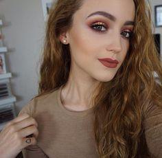 Warm tone makeup look