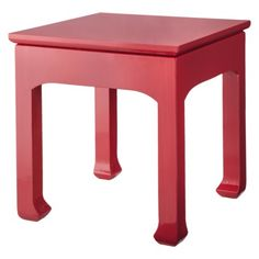 Coral Accent Table