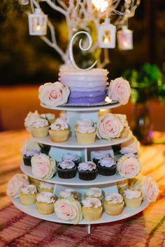 A Romantic Lavender and Yellow Wedding via Every Last Detail Wedding Desert Table, Yellow Desserts, Midsummer Nights Dream, Yellow Wedding, Brighten Your Day, Dessert Table, Beautiful Cakes, Wedding Cakes, Bridal Shower