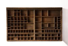 Old French Wooden LetterPress Box