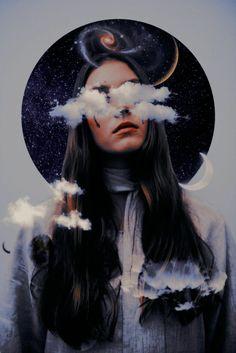 Digital Art Girl, Digital Portrait, Surealism Art, Foto Fantasy, Photo And Video Editor, Galaxy Art, Galaxy Space, Cartoon Art Styles, Pics Art