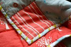 Machine Quilt Binding 101 + Quilt Binding DIY | Pretty Prudent