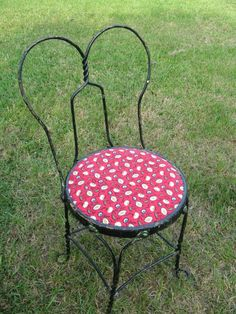 Recovering ice cream parlor chairs!