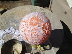 How to Make a Doily Lampshade Part One