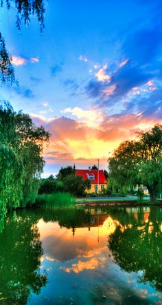 ~~Store Magleby ~ brilliant skies and pond water reflections, Hovedstaden, Denmark by OrangUtanSam~~
