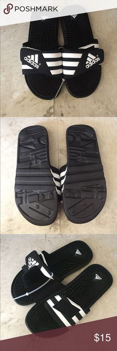 Adidas New! Black and white Adidas sandals adidas Shoes Sandals