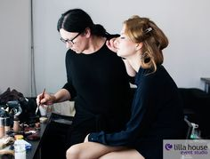 Backstage sesji zdjęciowej dla Galerii Łódzkiej. #lodz #foto #hair #hairdresser #photo #creation #model #makeup # backstage #team #lilla #outfit #jewellery #accesories #fun #agency