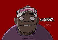 Russel - Gorillaz by laurencampos on DeviantArt Russel Gorillaz, Gorillaz 2 D, Russel Hobbs, Electro Swing, Memes, Damon Albarn, Tea Art, Softies, Japanese Girl