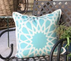 SOHIL In-Outdoor pillow 'Casablanca' with moorish pattern I www.sohildesign.com