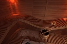 Innovative sauna bench solutions help you to solve your special needs in sauna room. Saunas, Sauna Design, Outdoor Sauna, Steam Bath, Sauna Room, Toilet Room, Home Spa, Interior Inspiration, Shed