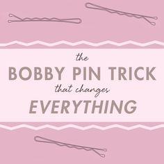 the right way to use bobby pins
