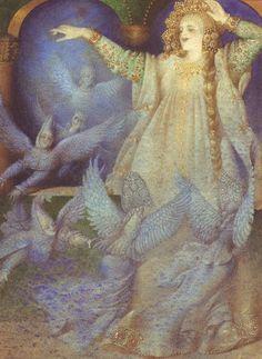 The Frog Princess, Gennady Spirin Old Children's Books, Beach Illustration, Frog Princess, Fairytale Art, Art Plastique, Character Concept, Art Forms, Illustrators, Art For Kids