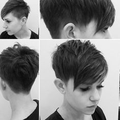 Very short pixie with clippered back