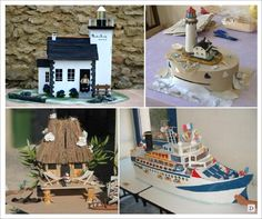 decoration mariage mer urne maquette bateau phare paillotte