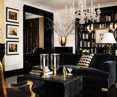 Decoración en negro y dorado