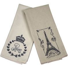 French Market Tea Towel, 40 Count, 15 inch x 25 inch, Beige