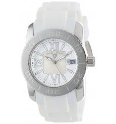 Swiss Legend Women's Commander White Silicone Watch * You can find more details by visiting the image link. Watch 2, Stainless Steel Case, Michael Kors Watch, Chronograph, Bracelet Watch, Quartz, Bling, Crystals, Accessories