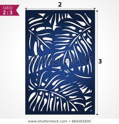 Laser cut pattern with tropical palm leaves. Cutout silhouette with botanical palm pattern. Filigree monstera \nleaves for paper cutting. Paper Cutting, Decorative Metal Screen, Leaf Cutout, Garden Wall Designs, Motif Tropical, Pvc Pipe Crafts, Cnc Cutting Design, Laser Cut Panels, Leaf Stencil