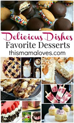 Delicious Dishes Recipe Party 30 - Host Favorite Dessert Recipes at Food Fun Family (from pies to frozen treats and more! Summer Dessert Recipes, Party Desserts, Healthy Dessert Recipes, Just Desserts, Sweet Desserts, Recipes Dinner, Breakfast Recipes, Vegetarian Recipes, Delicious Dishes