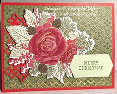 Le temps des fêtes est arrivé - Stamping in Winchester, VA, avec Buffy Cooper Christmas Card Verses, Stamped Christmas Cards, Christmas Rose, Christmas Time Is Here, Stampin Up Christmas, Christmas 2019, Handmade Christmas, Christmas Medley, Buffy