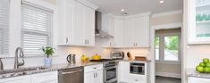 The addition of our Ice White Shaker kitchen cabinets will give a cool splash of style to any kitchen. They offer a pure white color that's certain to brighten up your entire kitchen, no matter if you're installing them above or below the counter. After they've been installed, you can rest assured in the quality of our RTA cabinets as they'll last for many years to come. We encourage you to give your kitchen a gorgeous new addition with our Ice White Shaker kitchen cabinets! Affordable Kitchen Cabinets, White Shaker Kitchen Cabinets, Rta Kitchen Cabinets, Stock Cabinets, Cabinets For Sale, Kitchen Upstairs, Kitchen Remodel, Kitchen Design, Country Kitchens