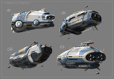 Subnautica: Sci-Vessel Starship Early Concepts V2, Pat Presley on ArtStation at https://www.artstation.com/artwork/subnautica-sci-vessel-starship-early-concepts